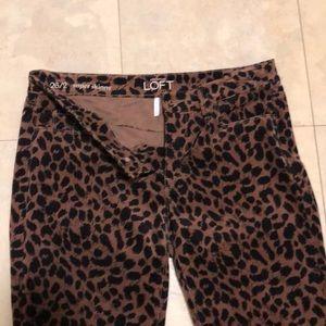 Ann Taylor leopard print pants.